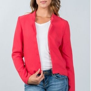 Jackets & Blazers - Red open front blazer
